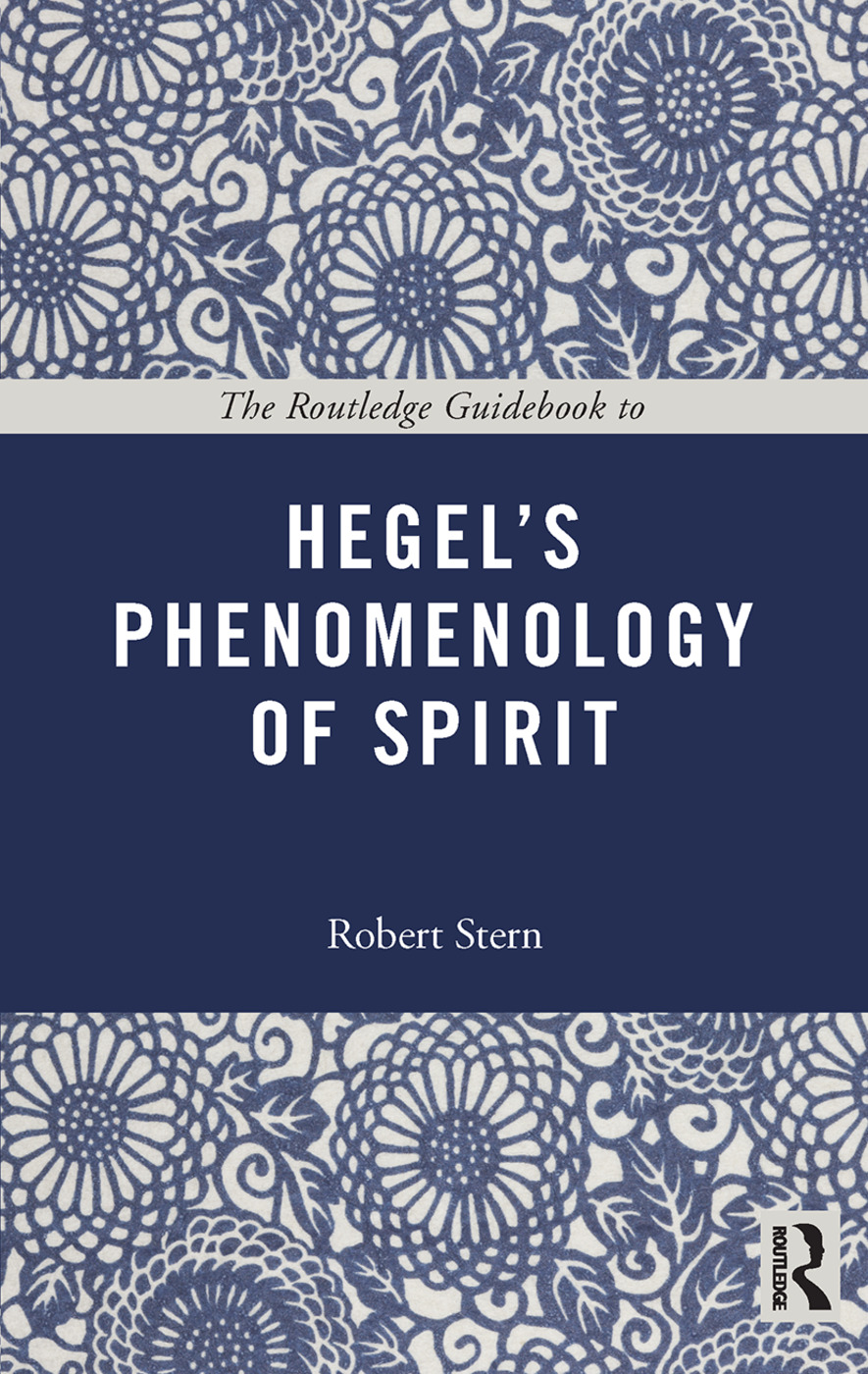 The Routledge Guidebook to Hegel's Phenomenology of Spirit (Paperback) book cover