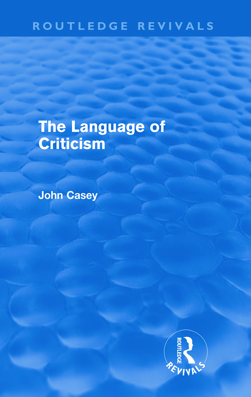 The Language of Criticism (Paperback) book cover