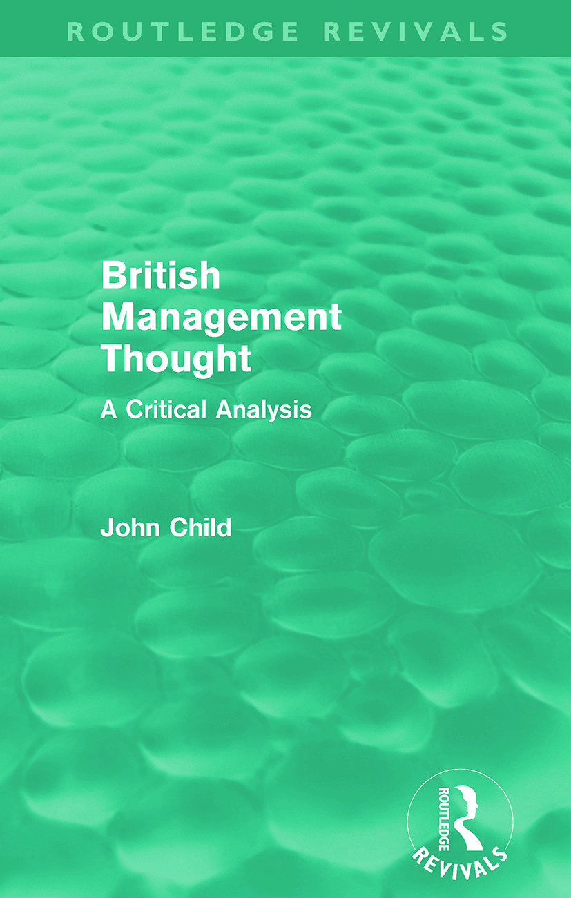 British Management Thought (Paperback) book cover