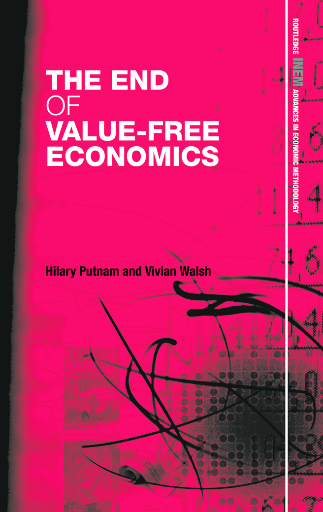 The End of Value-Free Economics (Hardback) book cover