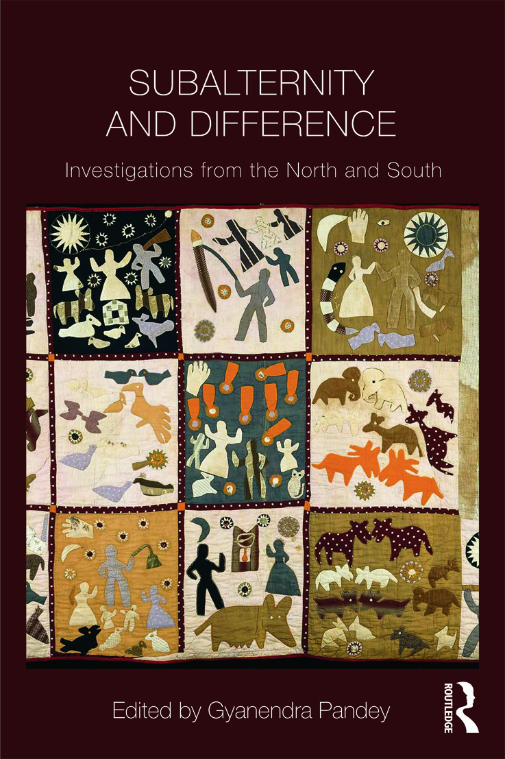 Subalternity and Difference: Investigations from the North and the South (Paperback) book cover