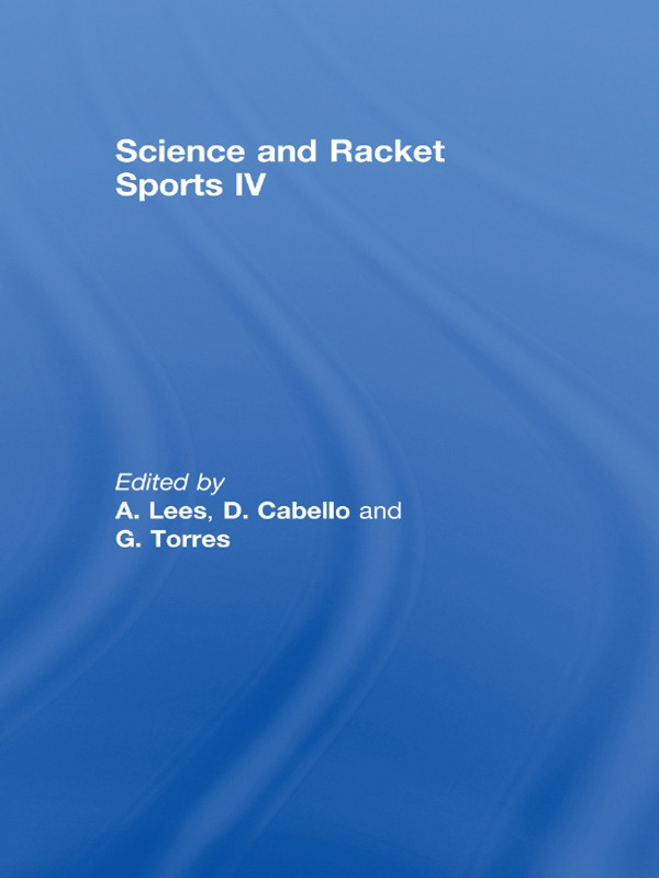 Science and Racket Sports IV: 1st Edition (Paperback) book cover