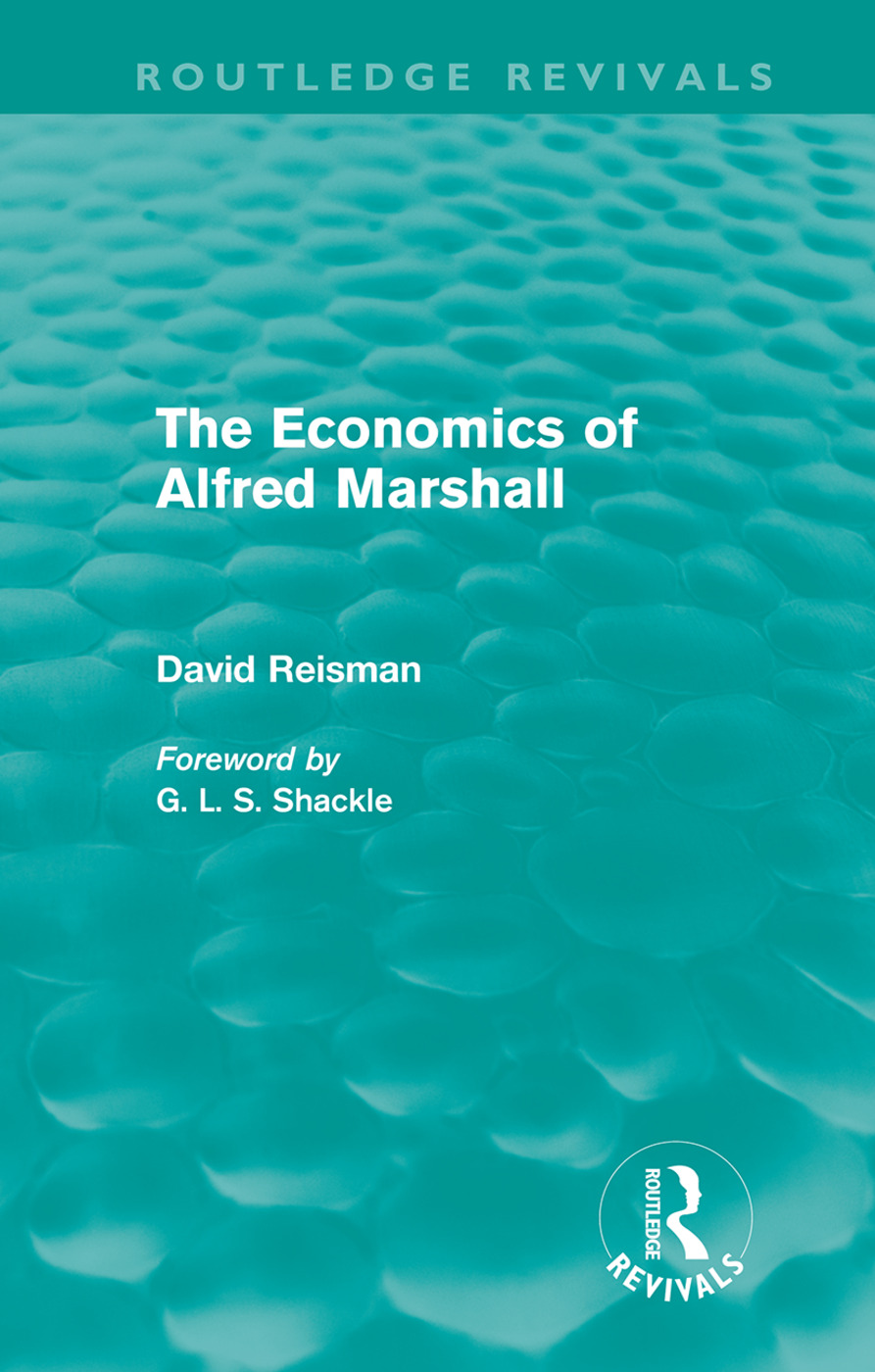The Economics of Alfred Marshall (Routledge Revivals) (Hardback) book cover