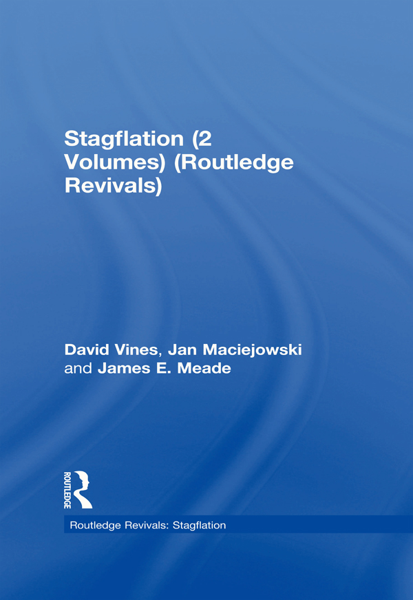 Stagflation (2 Volumes) (Routledge Revivals): 1st Edition (Hardback) book cover