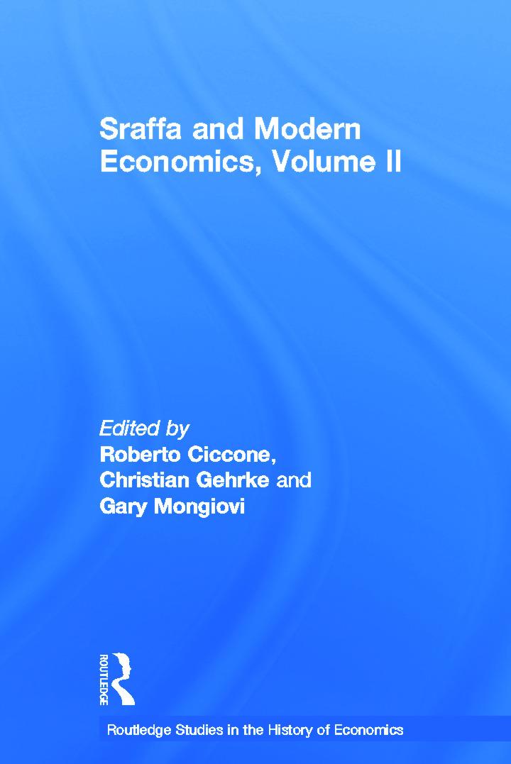 Sraffa and Modern Economics, Volume II (Hardback) book cover