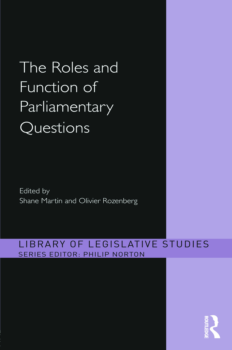 The Roles and Function of Parliamentary Questions (Hardback) book cover