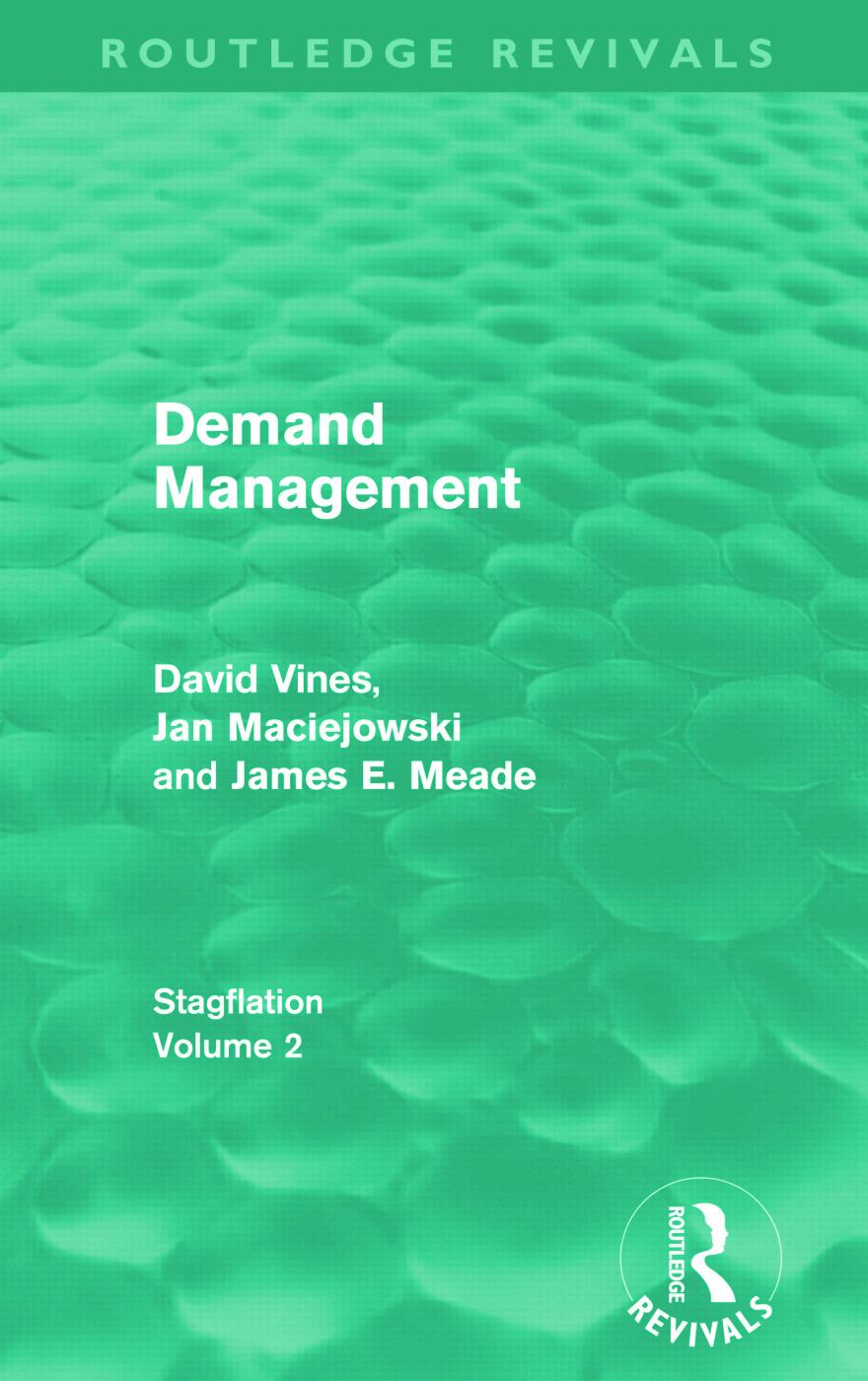 Demand Management (Routledge Revivals): Stagflation - Volume 2 (Paperback) book cover