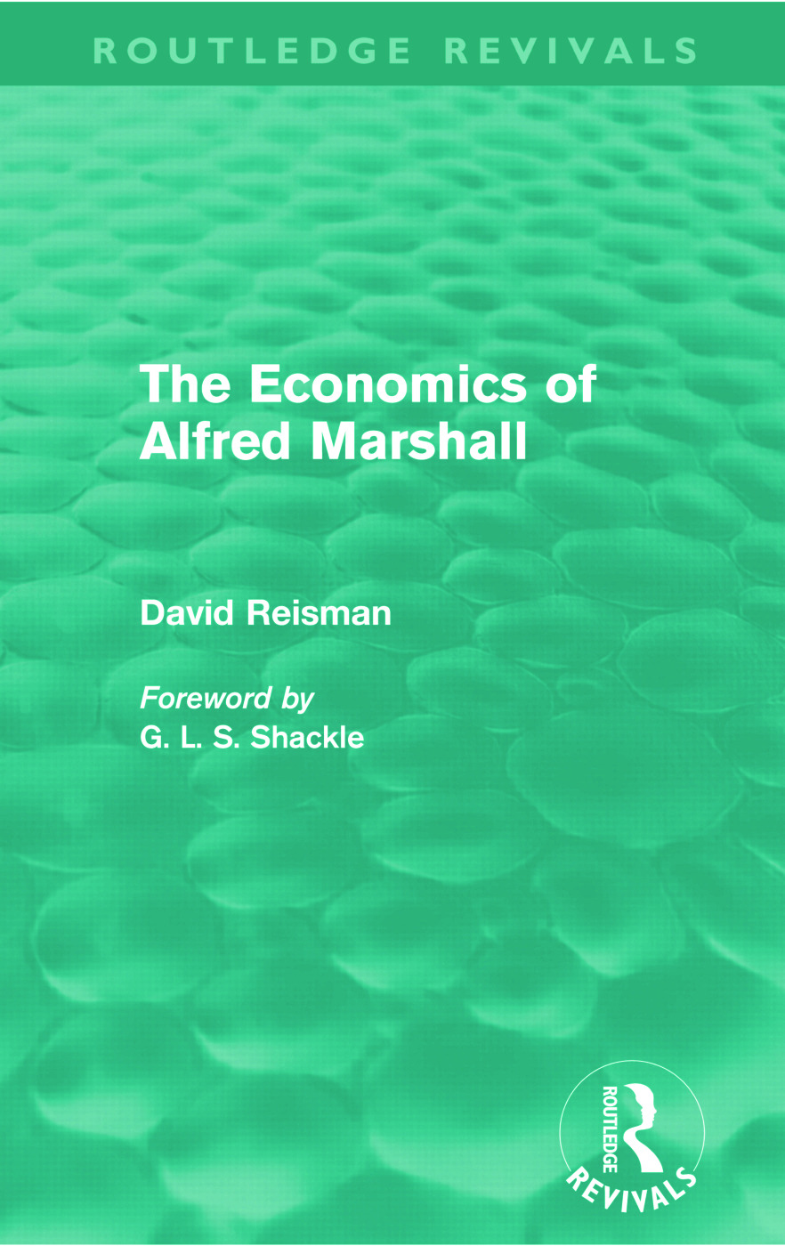 The Economics of Alfred Marshall (Routledge Revivals) (Paperback) book cover