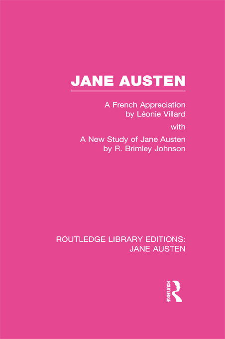 Jane Austen (RLE Jane Austen): A French Appreciation book cover