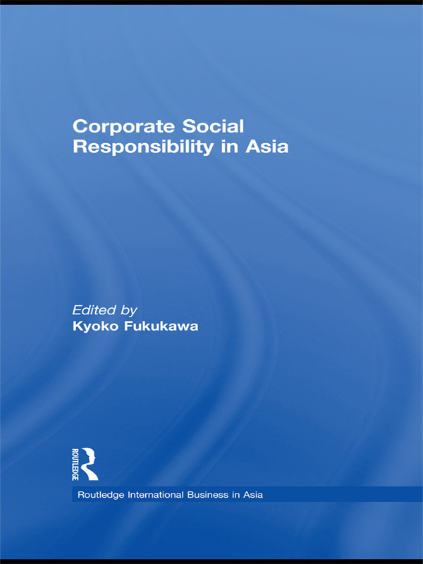 Corporate Social Responsibility in Asia (Paperback) book cover
