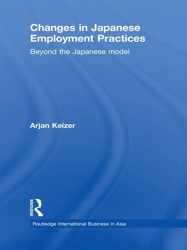 Changes in Japanese Employment Practices: Beyond the Japanese Model (Paperback) book cover