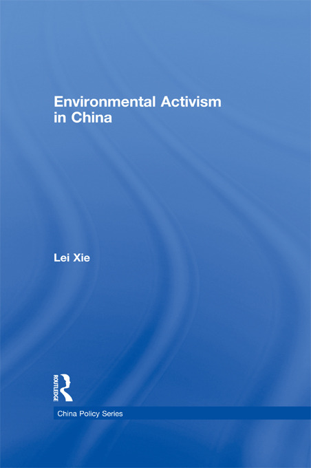 Environmental Activism in China: 1st Edition (Paperback) book cover