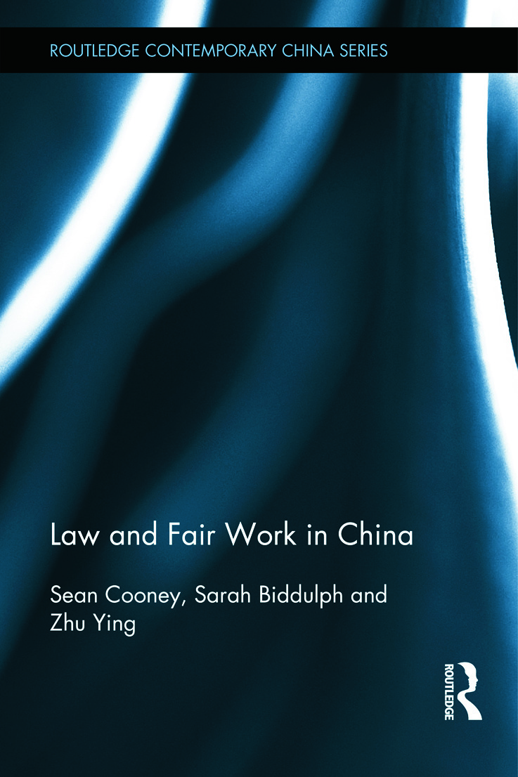 Law and Fair Work in China (Hardback) book cover