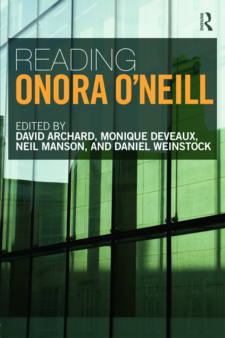 Reading Onora O'Neill: 1st Edition (Paperback) book cover