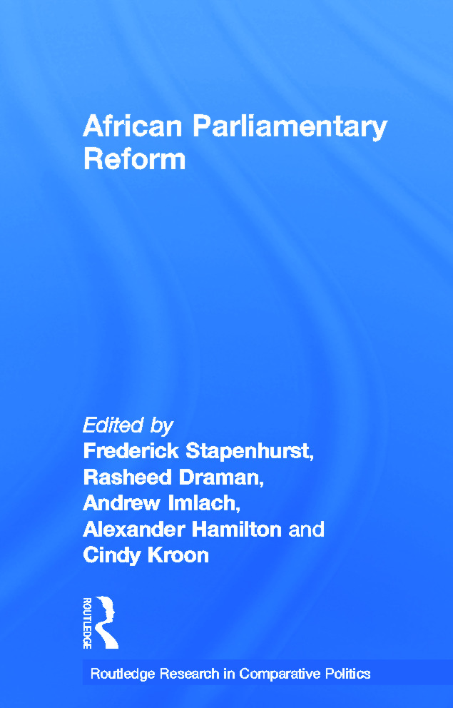 African Parliamentary Reform (Hardback) book cover