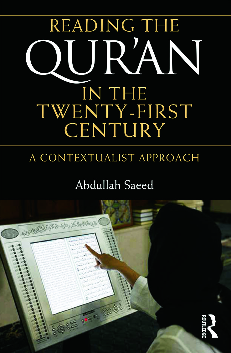 Reading the Qur'an in the Twenty-First Century: A Contextualist Approach (Paperback) book cover