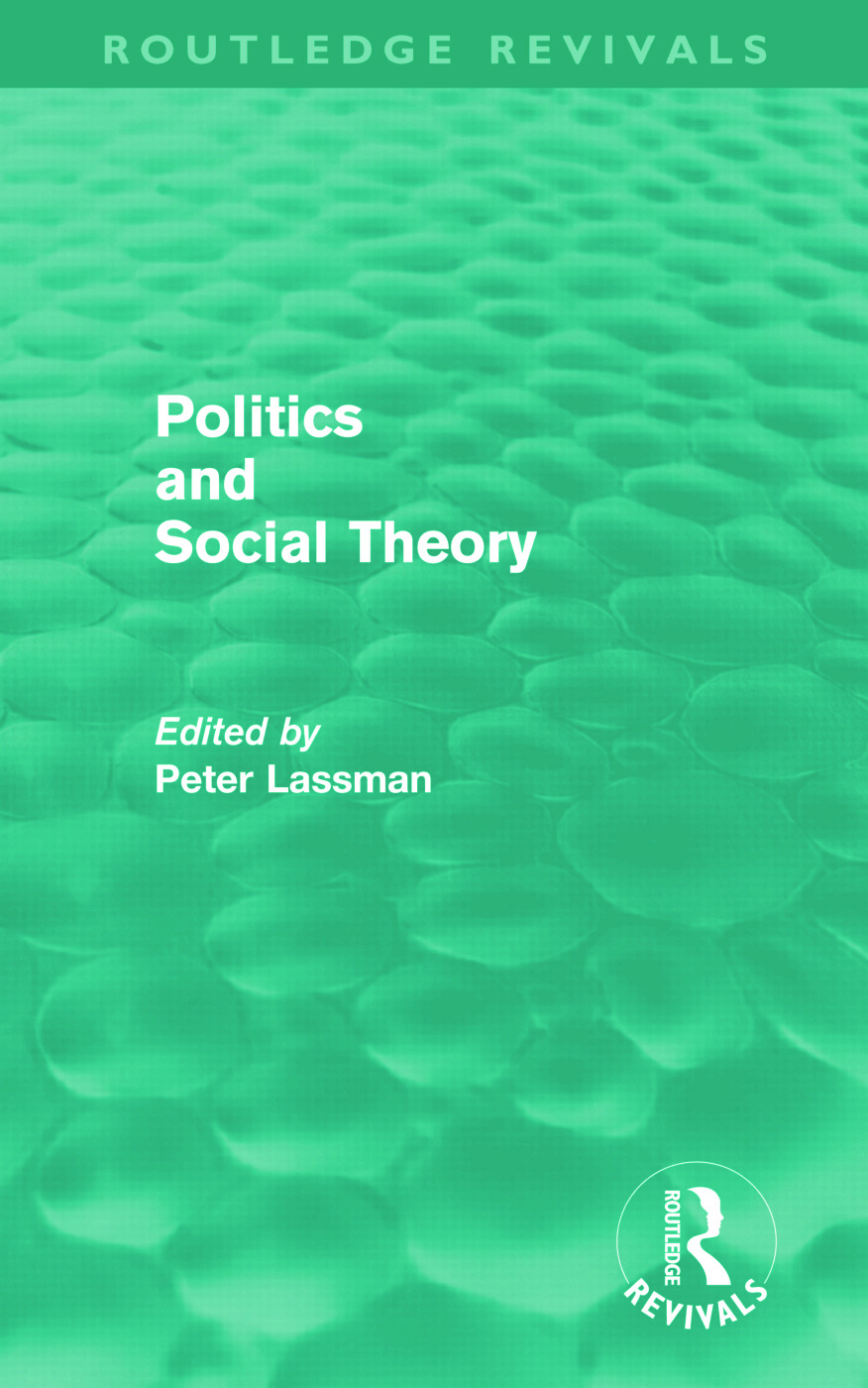 Politics and Social Theory (Hardback) book cover
