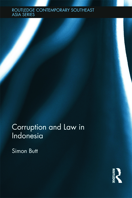 Corruption and Law in Indonesia (Hardback) book cover