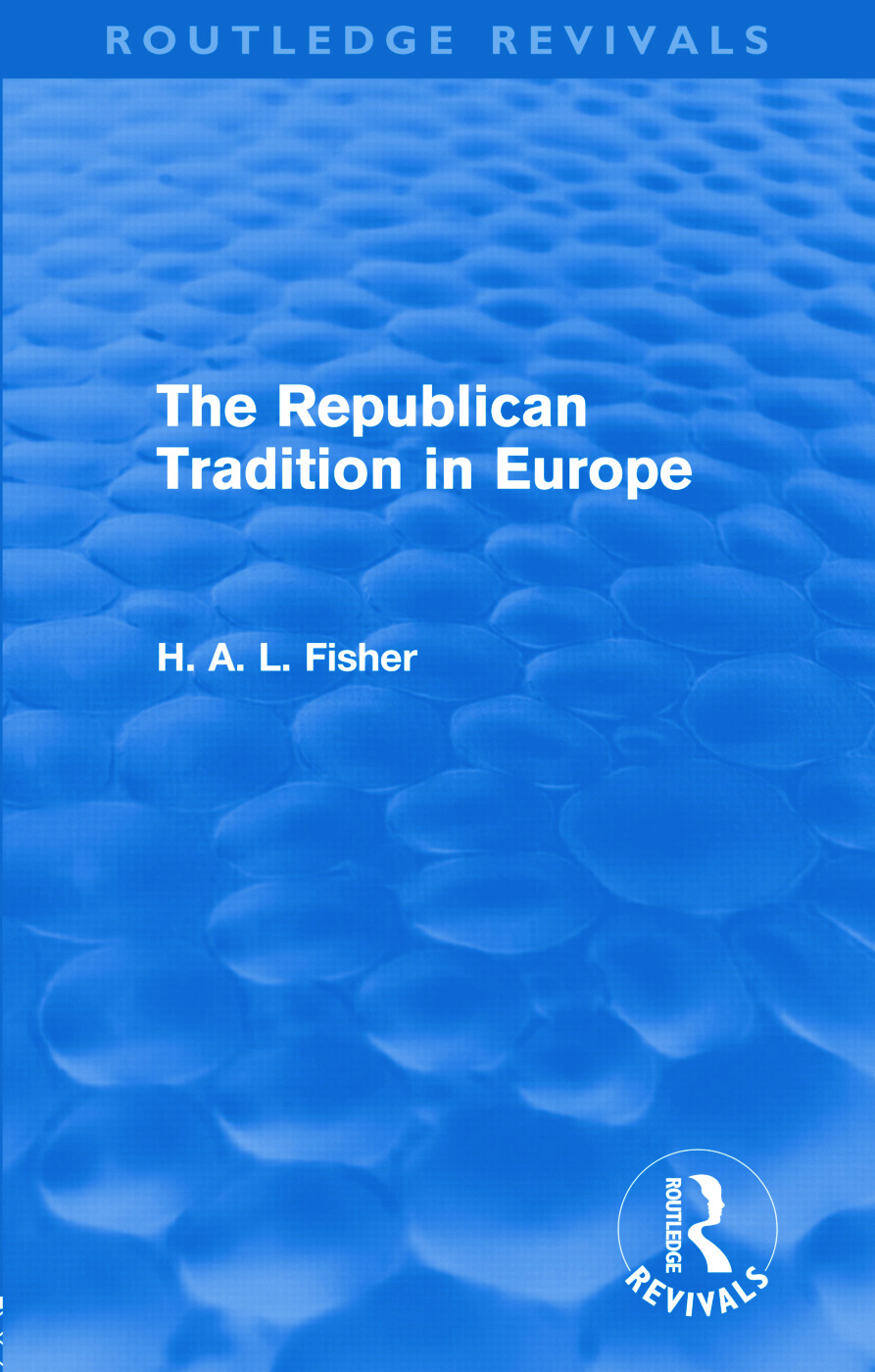 The Republican Tradition in Europe (Hardback) book cover