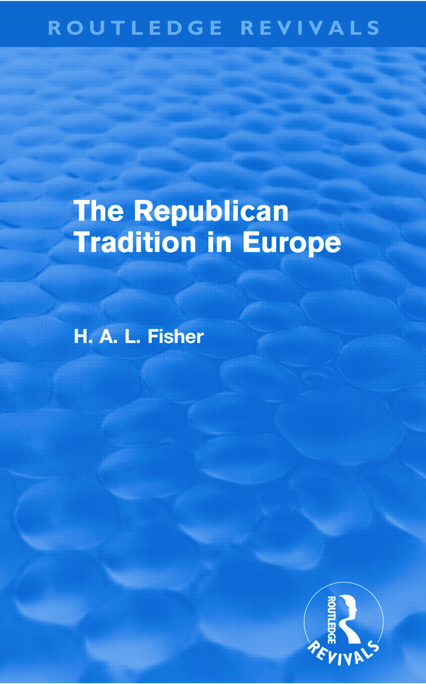 The Republican Tradition in Europe (Routledge Revivals) (Paperback) book cover