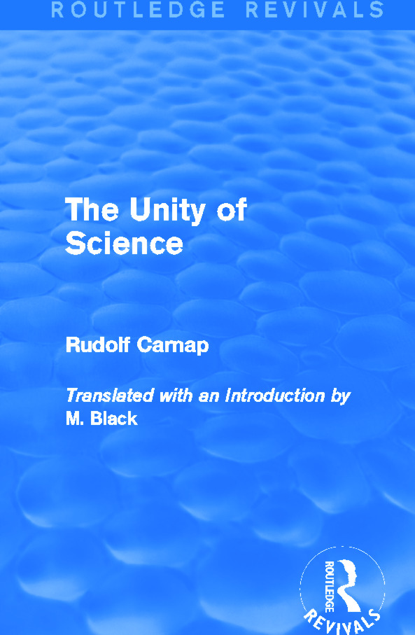 The Unity of Science (Routledge Revivals) book cover