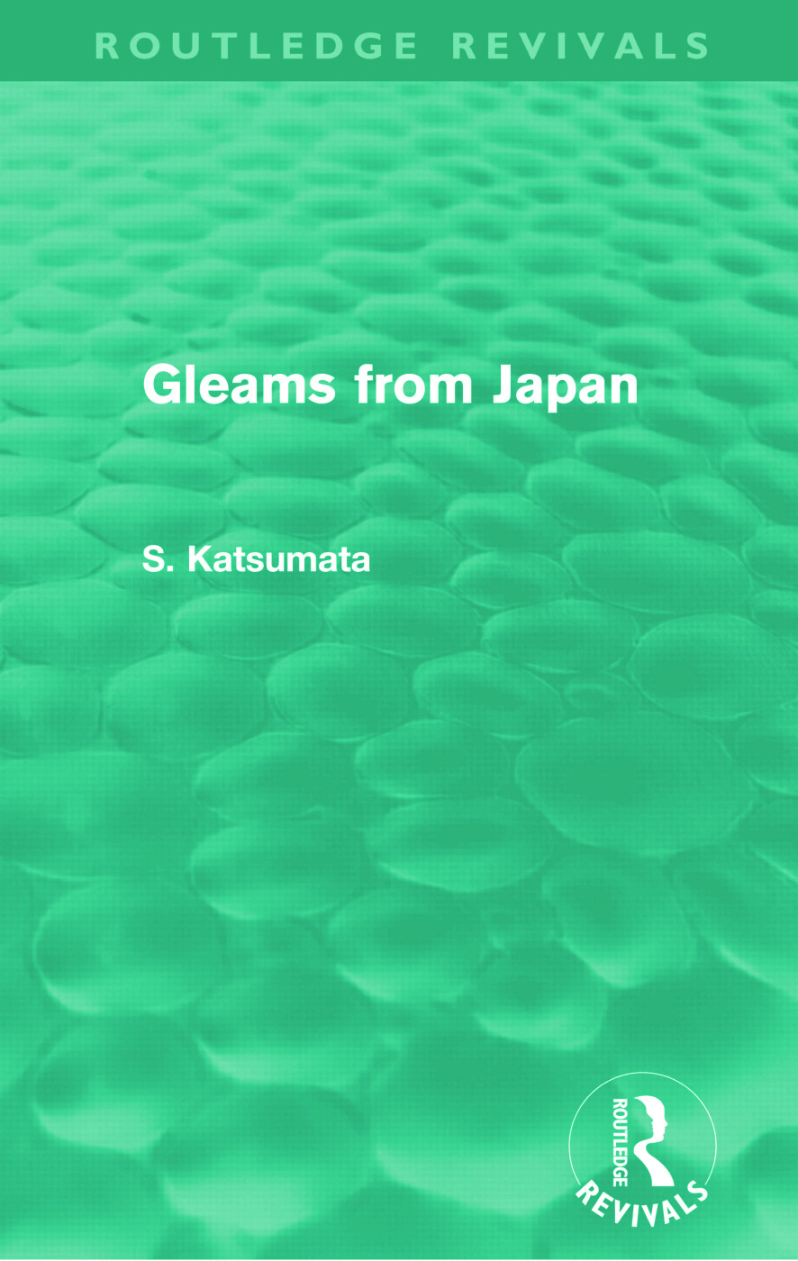 Gleams From Japan (Routledge Revivals) (Paperback) book cover