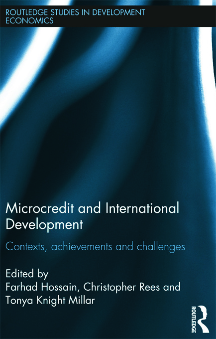 Microcredit and International Development: Contexts, Achievements and Challenges (Hardback) book cover
