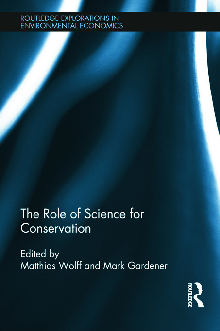 The Role of Science for Conservation (Hardback) book cover