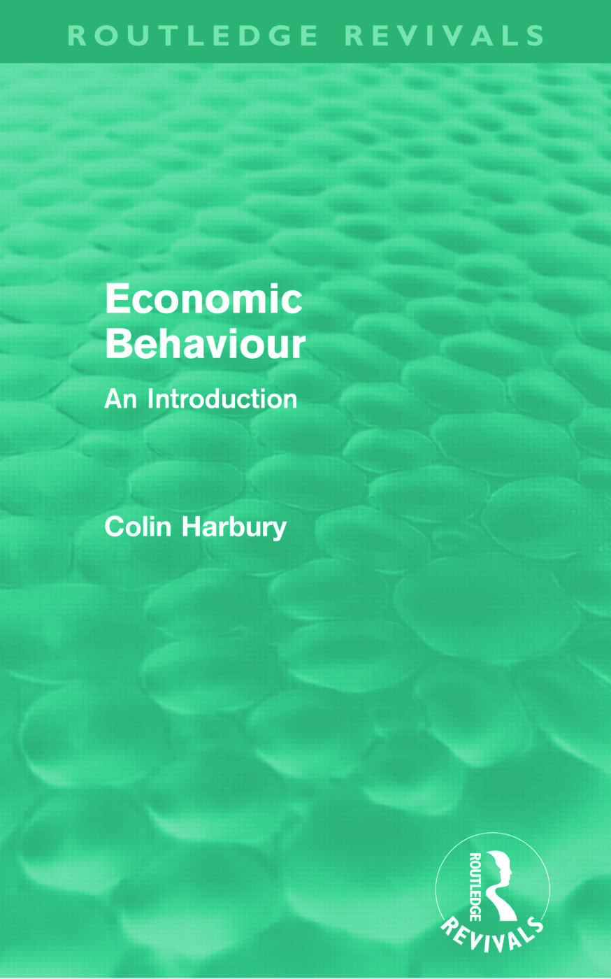Economic Behaviour (Routledge Revivals)