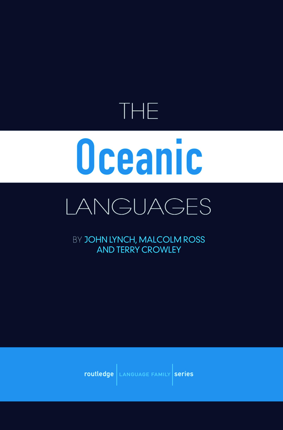 The Oceanic Languages (Paperback) book cover