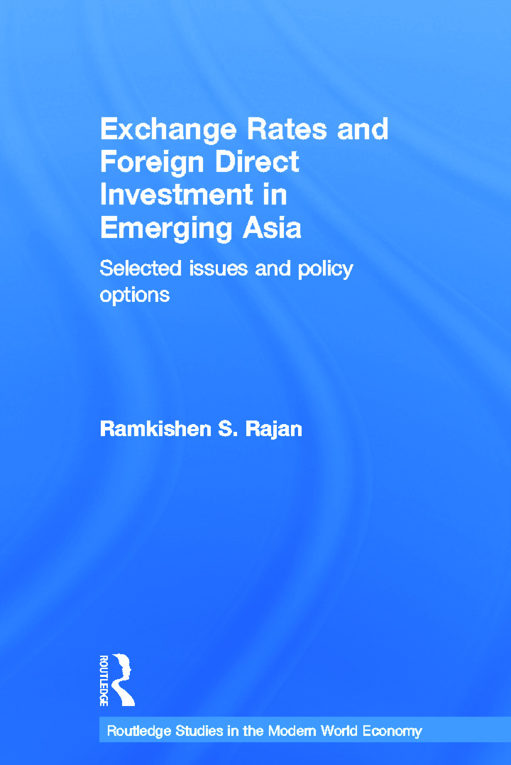 Exchange Rates and Foreign Direct Investment in Emerging Asia: Selected Issues and Policy Options (Hardback) book cover