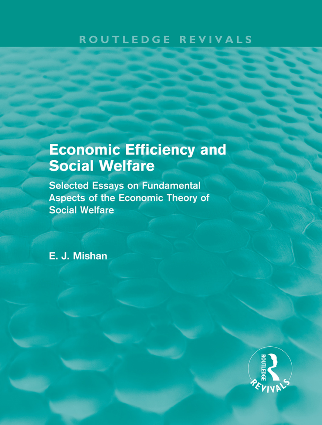 Economic Efficiency and Social Welfare (Routledge Revivals): Selected Essays on Fundamental Aspects of the Economic Theory of Social Welfare (Hardback) book cover