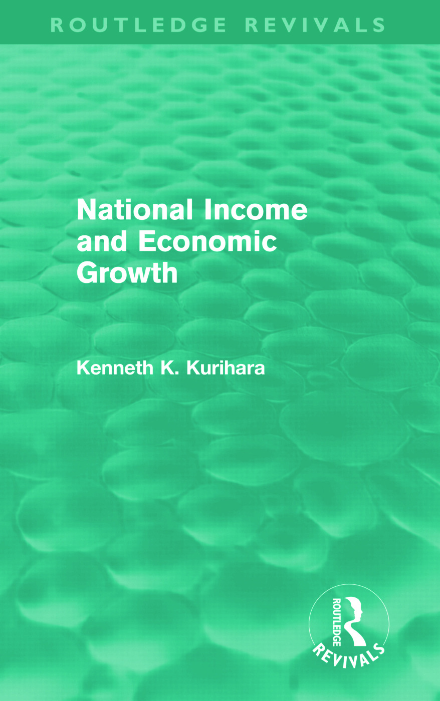 National Income and Economic Growth (Routledge Revivals) (Hardback) book cover