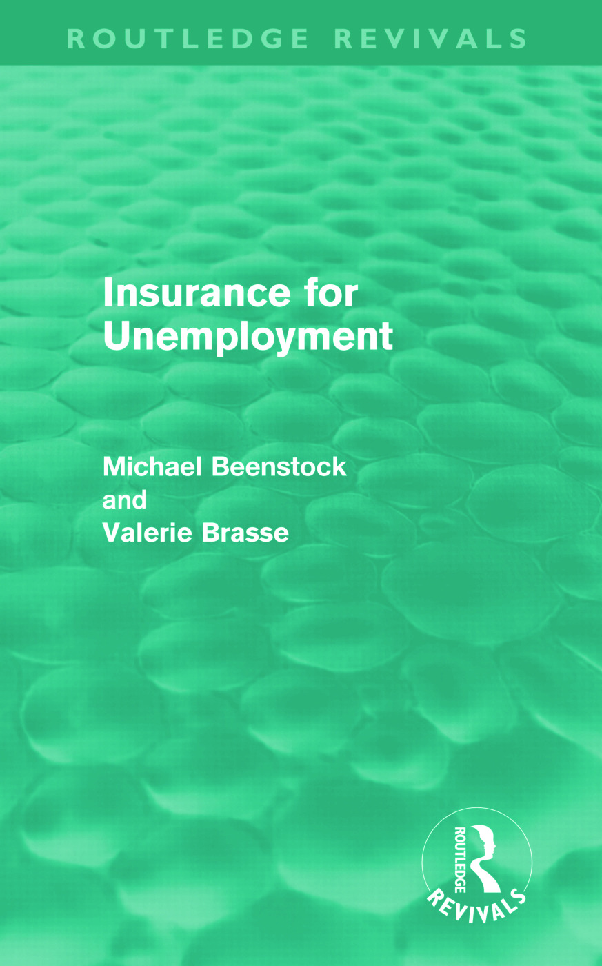 Insurance for Unemployment (Hardback) book cover