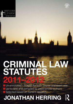 Criminal Law Statutes 2011-2012