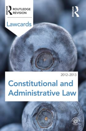 Constitutional and Administrative Lawcards 2012-2013 book cover