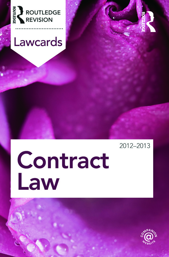 Contract Lawcards 2012-2013: 8th Edition (Paperback) book cover