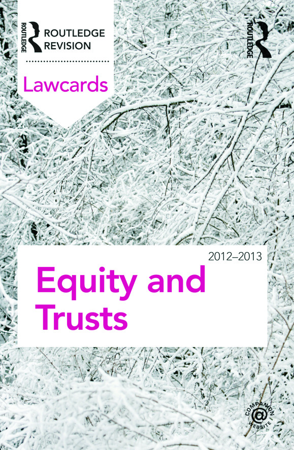 Equity and Trusts Lawcards 2012-2013: 8th Edition (Paperback) book cover