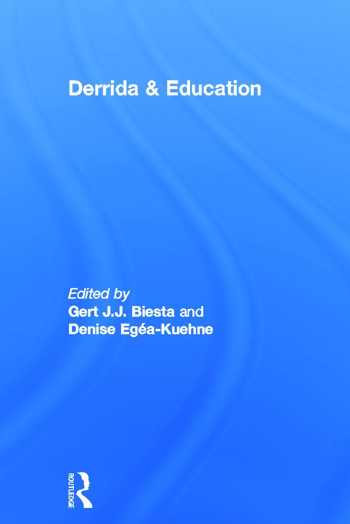 Derrida & Education (Paperback) book cover