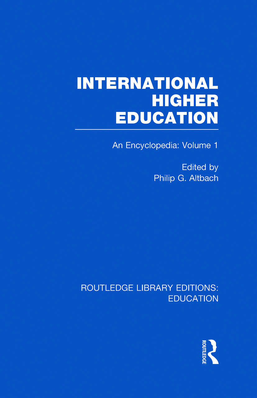 International Higher Education Volume 1: An Encyclopedia (Hardback) book cover
