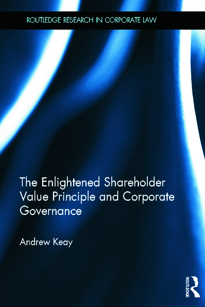The Enlightened Shareholder Value Principle and Corporate Governance (Hardback) book cover
