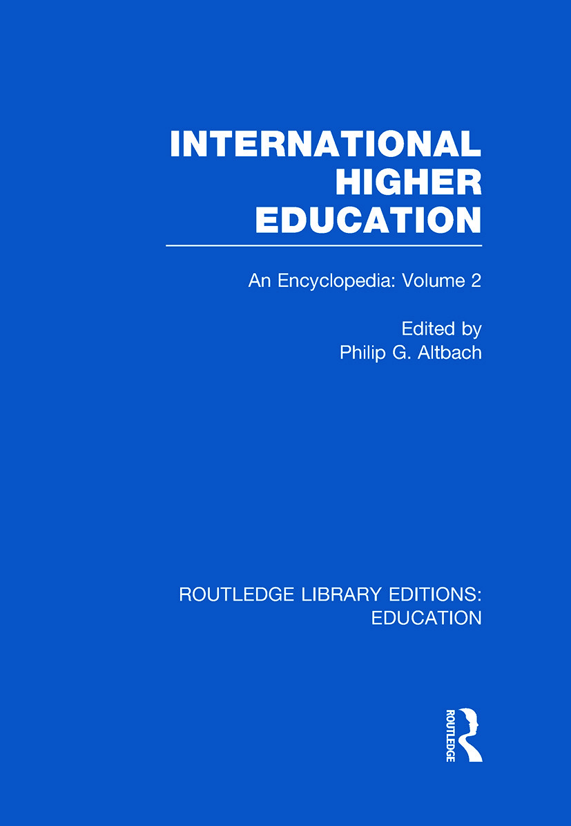 International Higher Education Volume 2: An Encyclopedia book cover