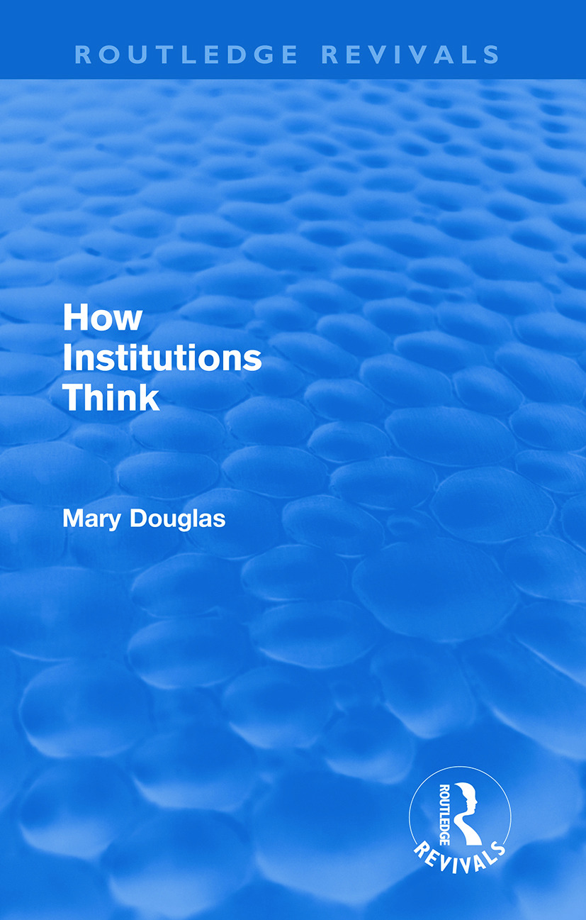 How Institutions Think (Routledge Revivals) (Paperback) book cover