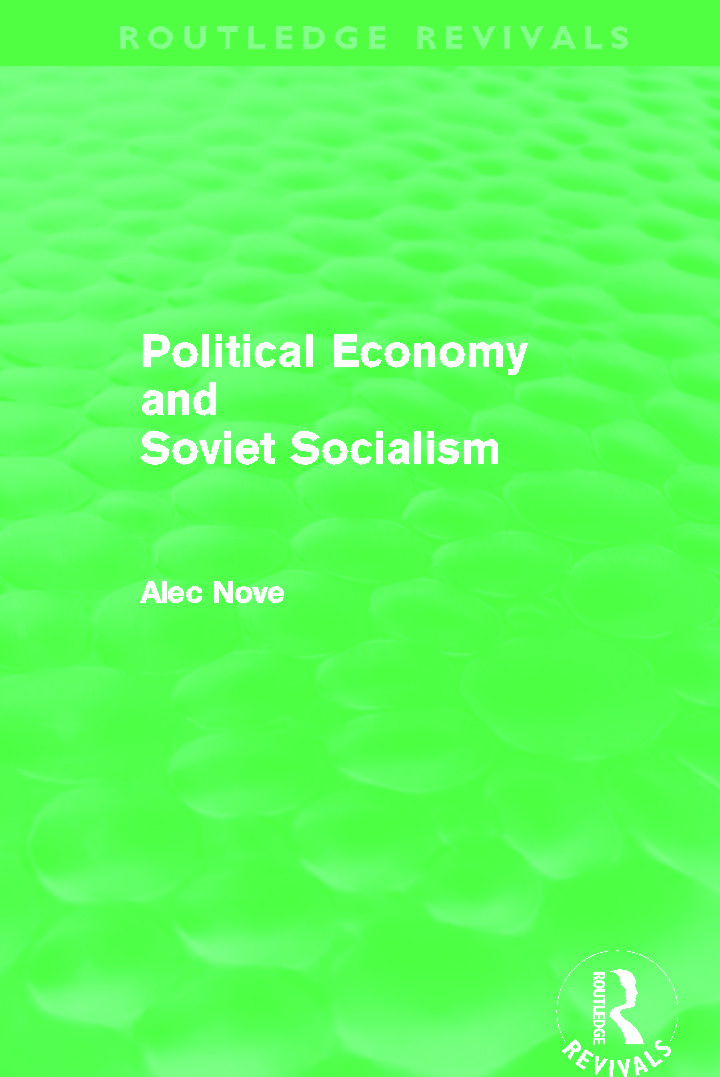 Political Economy and Soviet Socialism (Routledge Revivals)