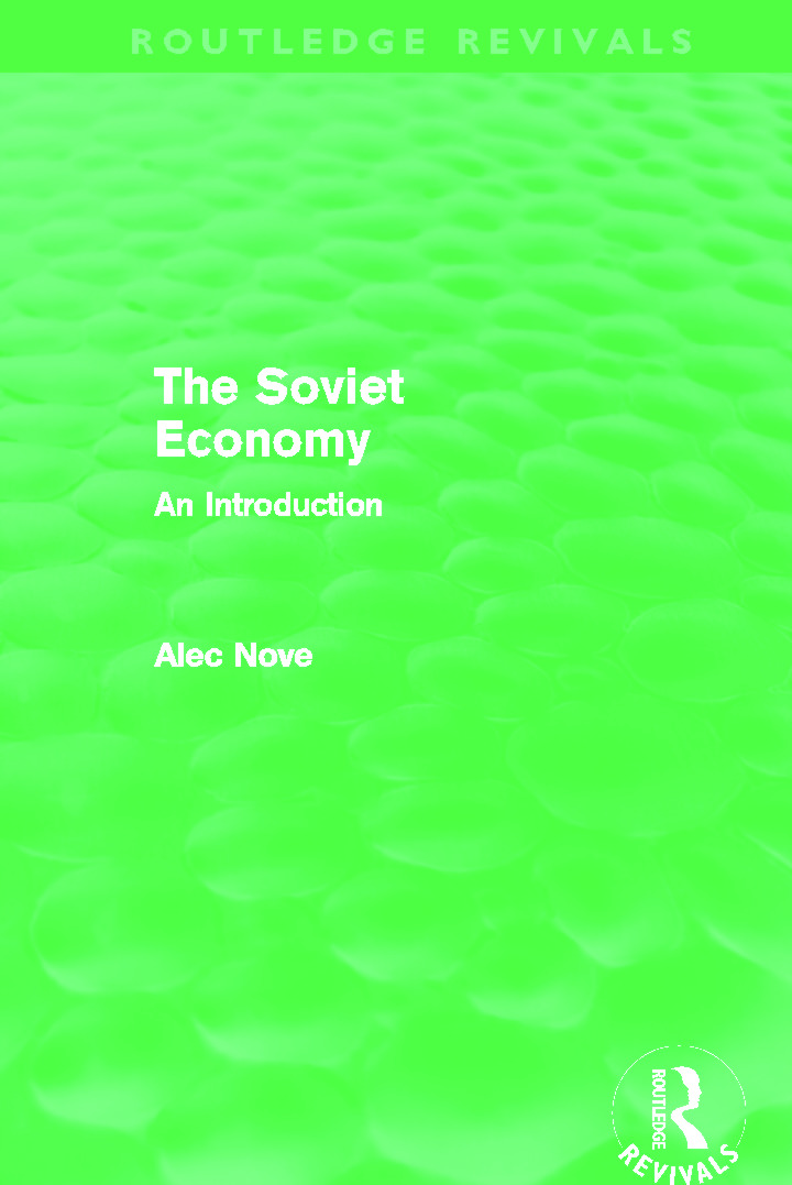 The Soviet Economy (Routledge Revivals): 1st Edition (Paperback) book cover