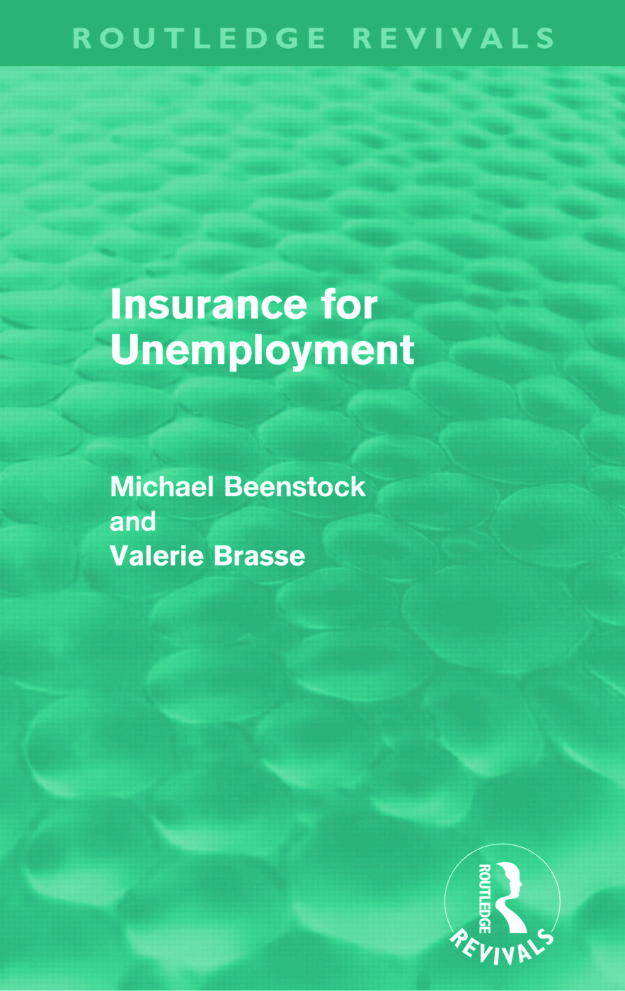 Insurance for Unemployment (Routledge Revivals): 1st Edition (Paperback) book cover