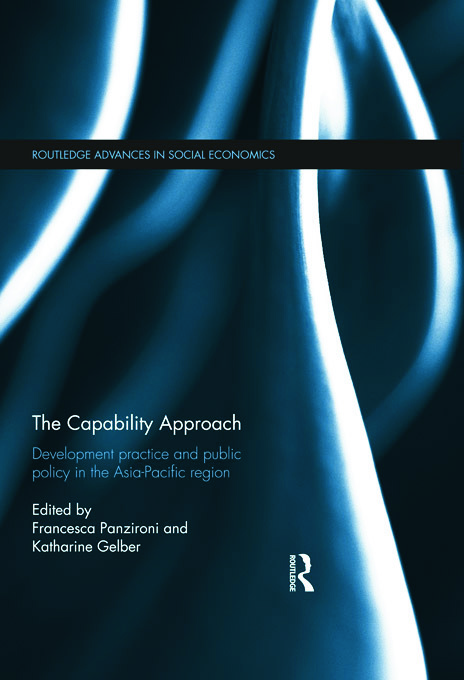 The Capability Approach: Development Practice and Public Policy in the Asia-Pacific Region (Hardback) book cover