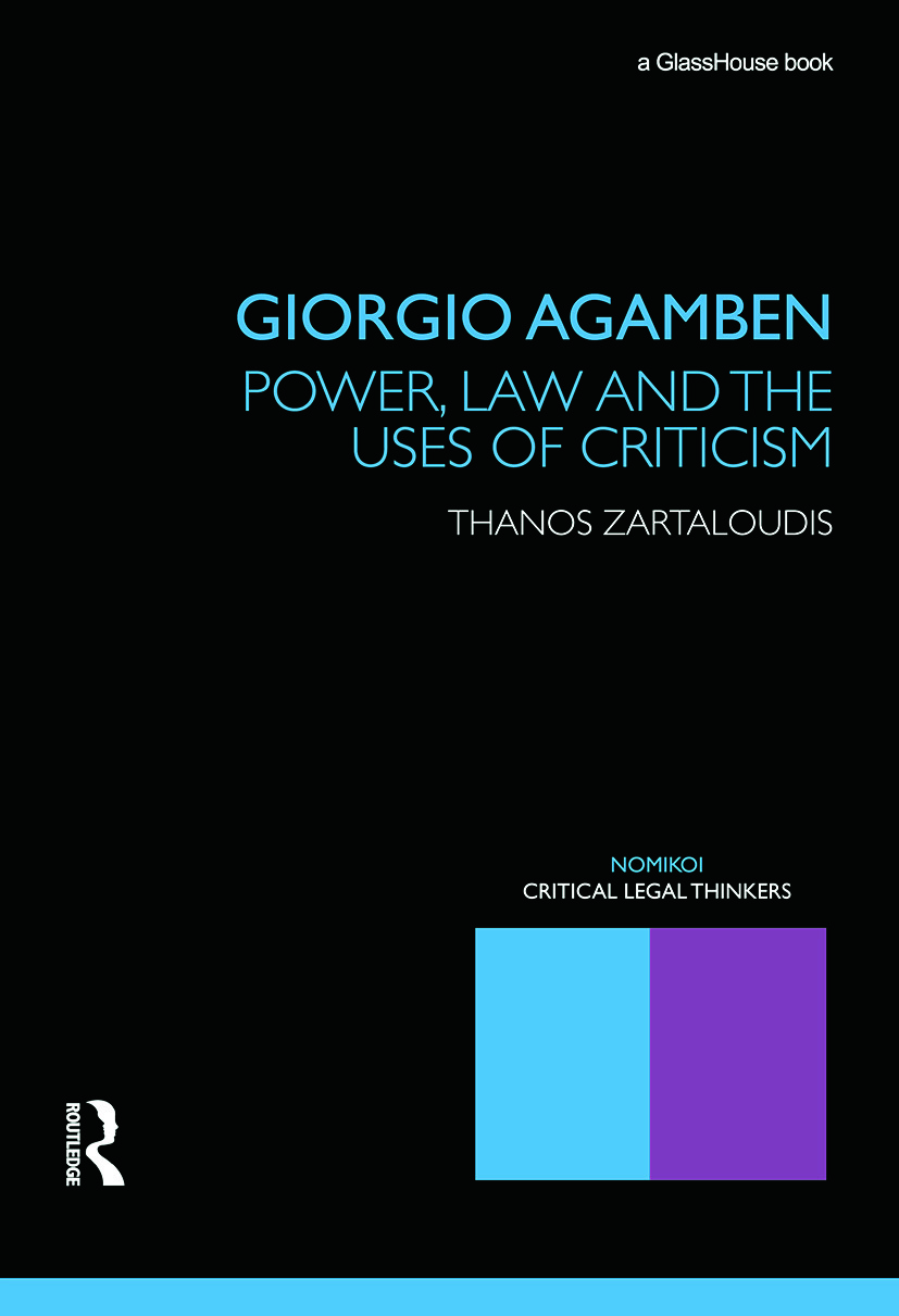Giorgio Agamben: Power, Law and the Uses of Criticism (Paperback) book cover