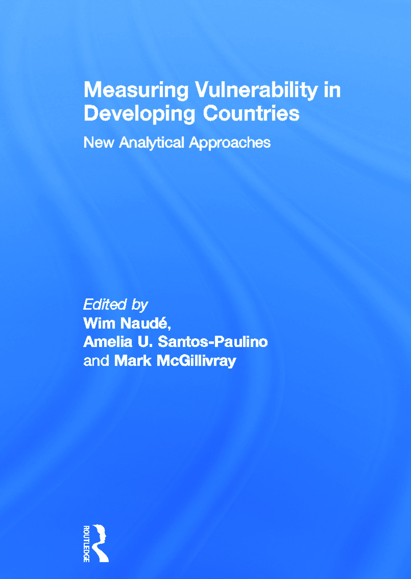 Measuring Vulnerability in Developing Countries: New Analytical Approaches (Hardback) book cover