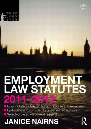 Employment Law Statutes 2011-2012